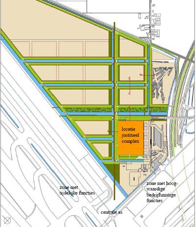 plan  voor nieuw cellencomplex Schiphol West