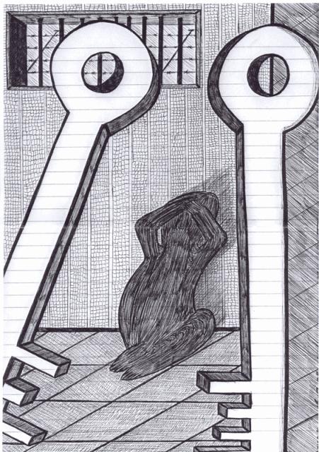 tekening gemaakt in Nieuwersluis juli 2008